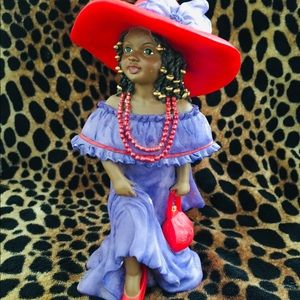 Vintage U.T.I. African American Porcelain Figurine
